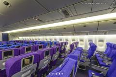 Салон экономического класса Boeing 777-300 Трансаэро