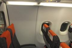 31 ряд Airbus A320 EasyJet. Отсутствие иллюминатора