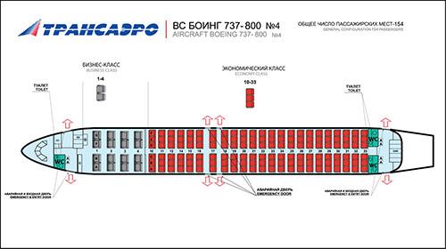 737-800 — Трансаэро Ряд 19