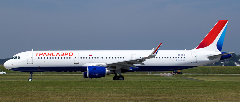 Новый Airbus A321 для «Трансаэро»