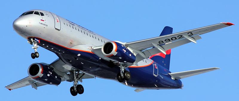 Самолет сухой суперджет 100 95: схема салона, технические.