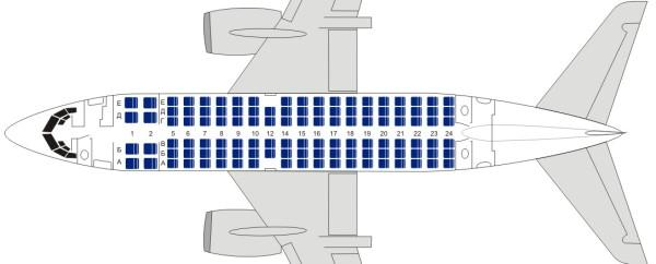 сидений Размах крыла схема boeing 737.