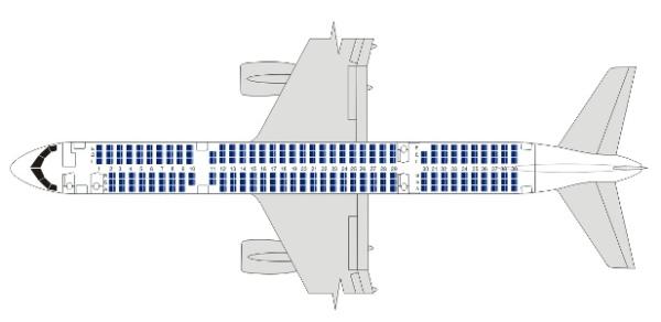 Боинг 757 200 схема салона хорошие места.