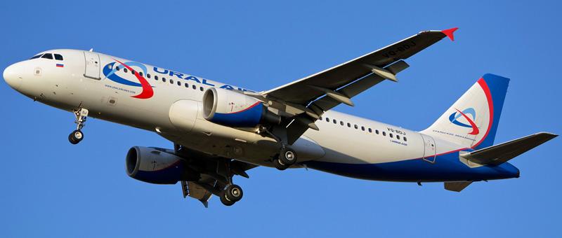Схема салона Airbus A320 Ural Airlines. Лучшие места в самолете