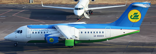 British Aerospace Avro RJ85 Узбекистанские авиалинии