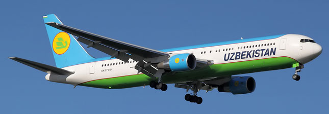 Boeing 767-300 Узбекистанские авиалинии