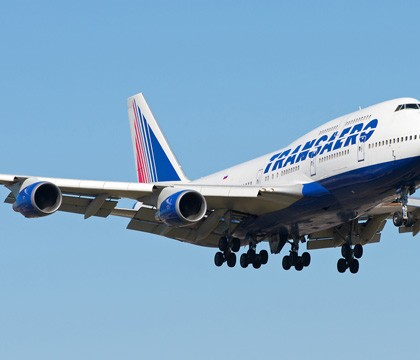 Схема салона Boeing 747-400 — Трансаэро. 522 места