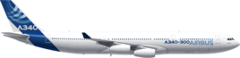 Общая длина Airbus A340-300 -63.7 метра