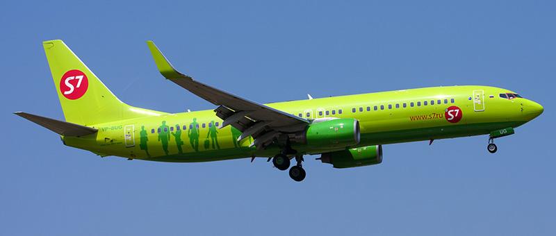 Самолет Boeing 737-800 (Боинг 737-800) — S7 Airlines. Фотографии и описание