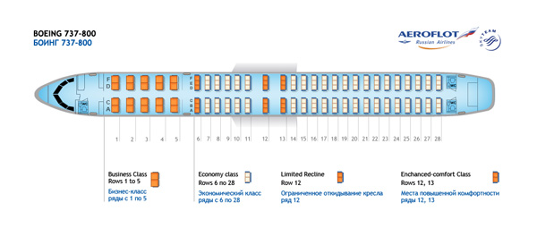 Боинг 737 800 победа схема салона