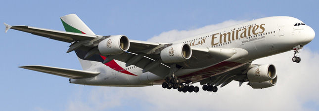 Airbus A380-800 (Эйрбас А380-800) — Emirates. Фотографии и описание