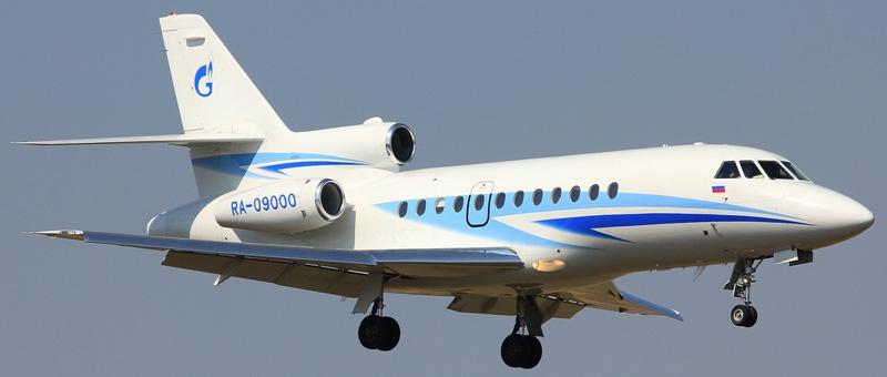 Dassault Falcon 900B Газпром Авиа