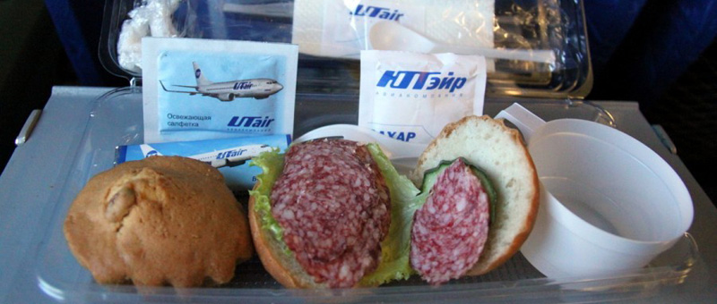 Питание на рейсах компании «Utair»