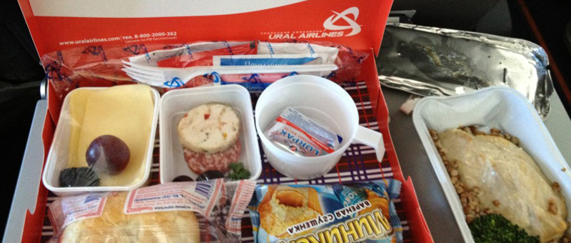 Питание на рейсах авиакомпании «Уральские авиалинии»