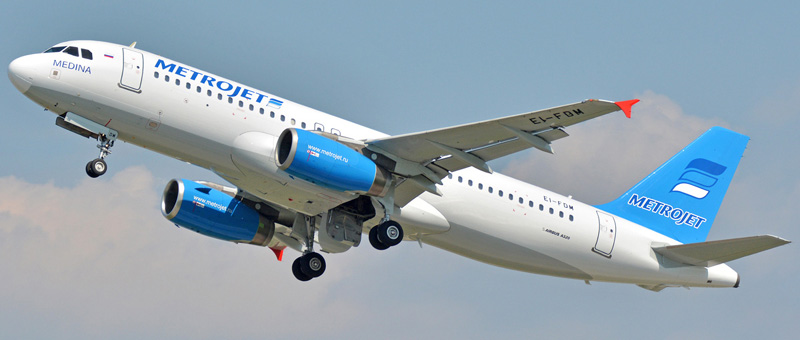 Лучшие места в самолете Airbus A320 — Metrojet