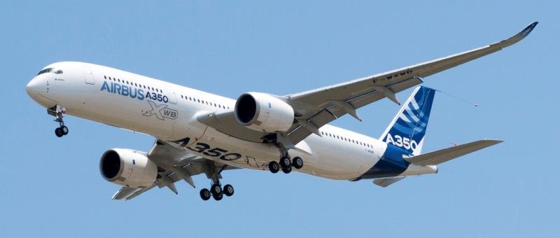 Первый Airbus A350 посетит столицы Европы в октябре