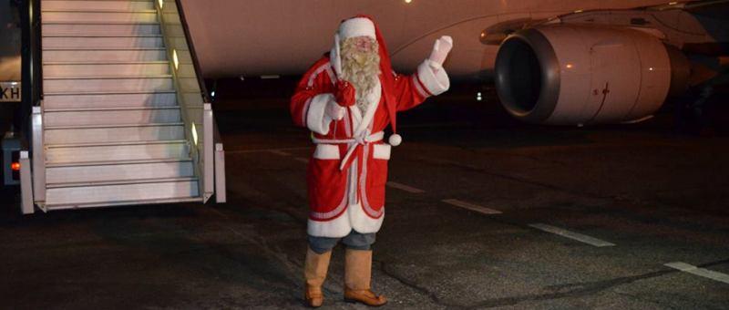 В аэропорт Самары из Финляндии прибыл Санта-Клаус