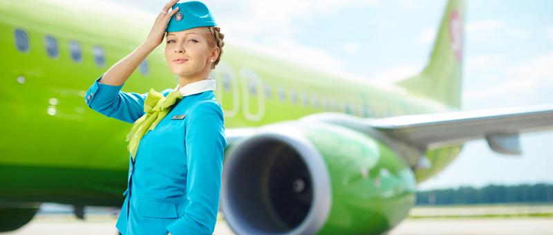 Самая красивая стюардесса России летает в S7 Airlines