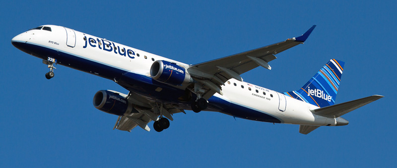 n339jb Jetblue Embraer ERJ-190