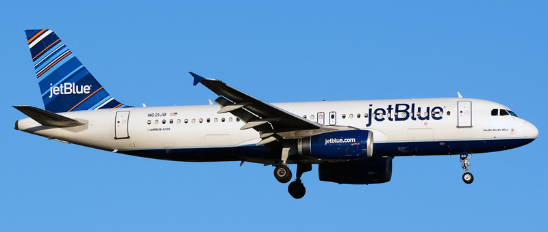 n621jb jetblue airways airbus a320-232