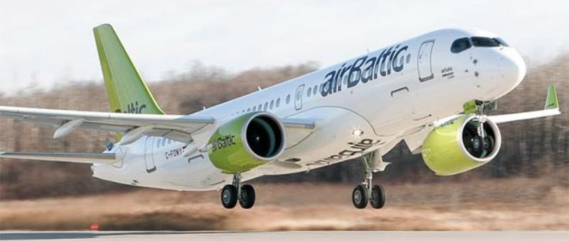 Авиакомпания AirBaltic первой в мире получила Bombardier CS300