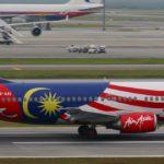 Стилизованный самолет Air Asia