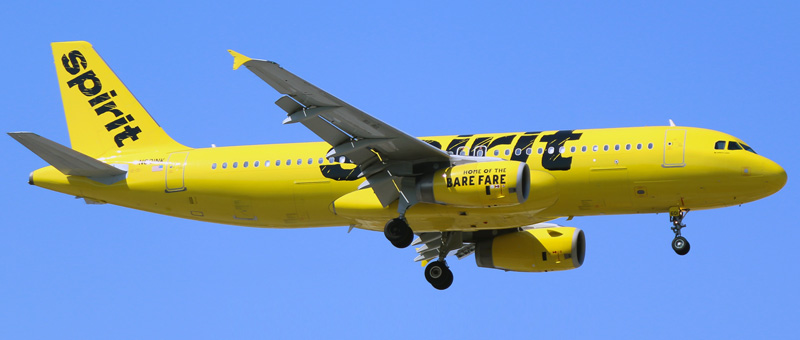 Airbus A320-200 Spirit Airlines