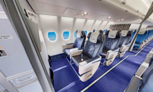 Бизнес класс Superjet 100