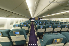 Салон эконом класса Boeing 777-200 Трансаэро