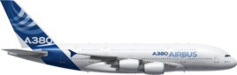 Общая длина А380