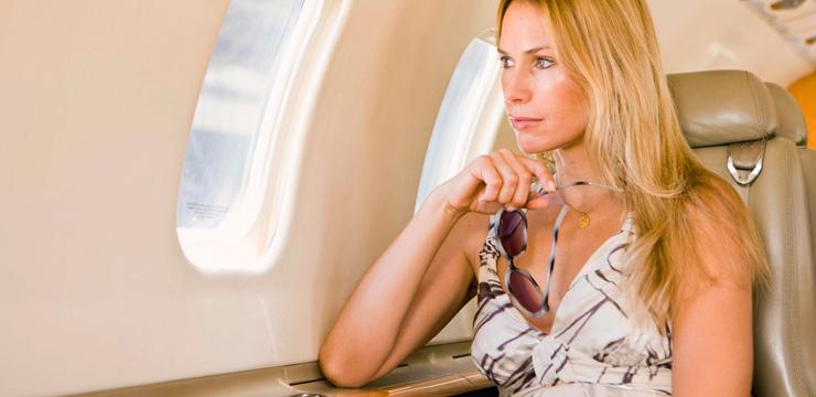 Беременная - полет на самолете