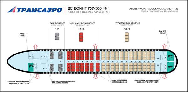 Схема салона 737-300