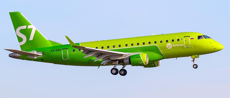 S7 Siberia Airlines Embraer ERJ-170