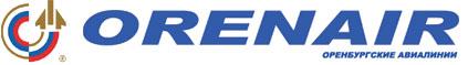 Логотип Orenair. Оренбургские авиалинии
