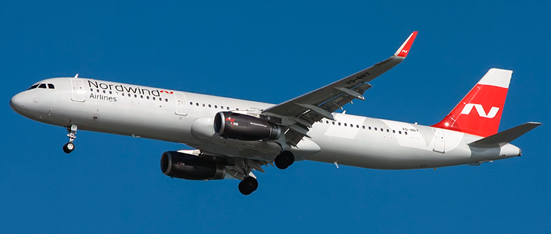 Airbus A321-231(WL) Nordwind Airlines.