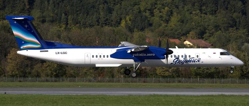 LX-LGC-Yakutia-Airlines-De-Havilland-Canada-DHC-8-400