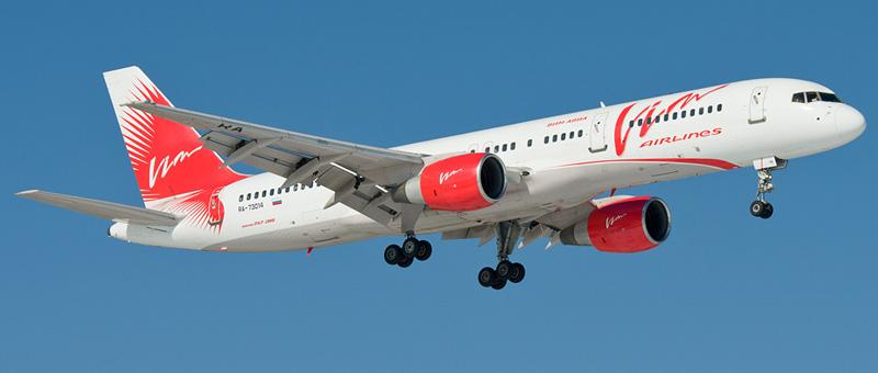 Схема салона Boeing 757-200 ВИМ-Авия. Лучшие места в самолете
