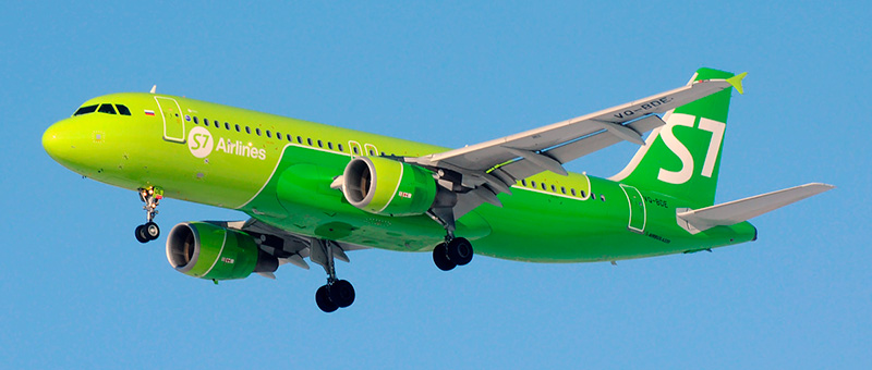 S7 Airlines Airbus A320-214