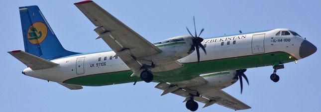 Ил-114-100 Узбекистанские авиалинии
