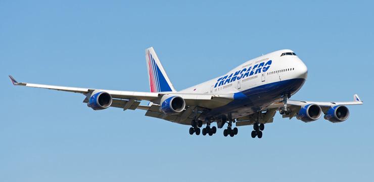 Схема салона Boeing 747-400 – Трансаэро. 522 места