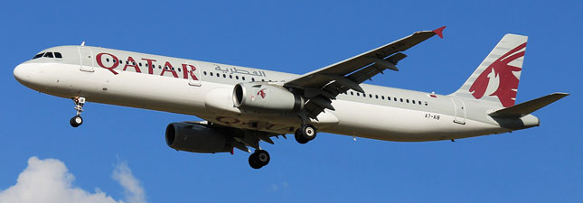 Airbus A321-200 Qatar Airways