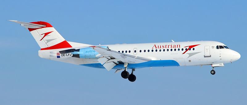 Fokker 70 Австрийские авиалинии