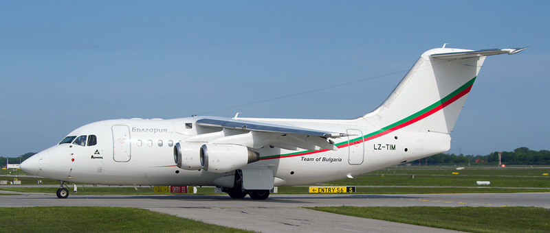 Bulgaria Air British Aerospace Avro RJ70