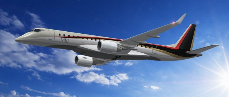 Японский региональный авиалайнер MRJ завершил первый полет