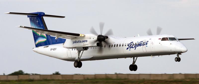 Bombardier DHC-8-400 Якутия. Фото и описание самолета