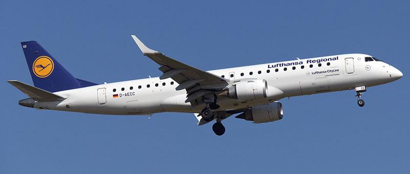 Lufthansa Cityline Embraer ERJ-190LR