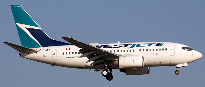 WestJet Airline Boeing 737-600