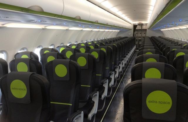 """Салон эконом-класса в первом A320neo авиакомпании """"Сибирь"""""""