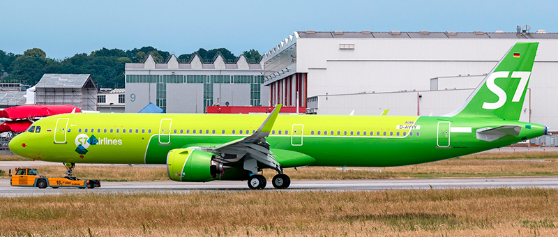 S7 airlines Airbus A321-27NEO