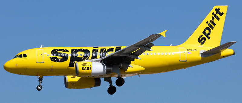 Airbus A319-100 Spirit Airlines-1